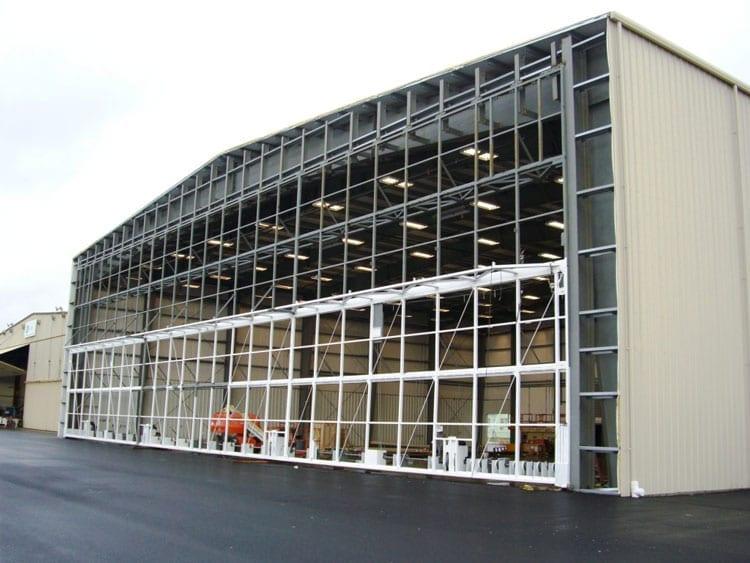 metal aircraft hangars